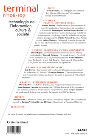 4eme Colloque : Les libertés à l'épreuve de l'informatique