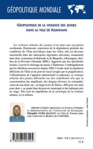 4eme Géopolitique de la violence des jeunes dans la ville de Kisangani