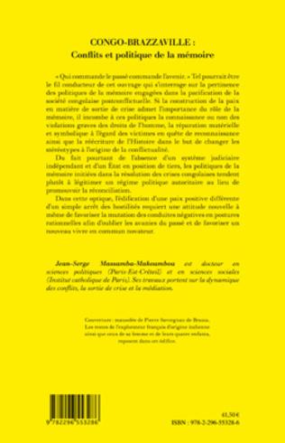 4eme Congo-Brazzaville : Conflits et politique de la mémoire