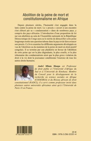 4eme Abolition de la peine de mort et constitutionnalisme en Afrique