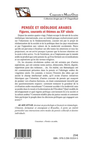 4eme Pensée et idéologie arabes. Figures, courants et thèmes au XXe siècle