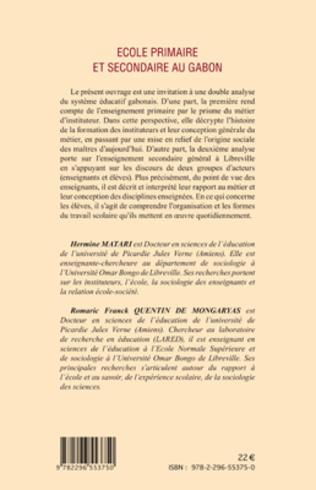 4eme Ecole primaire et secondaire au Gabon