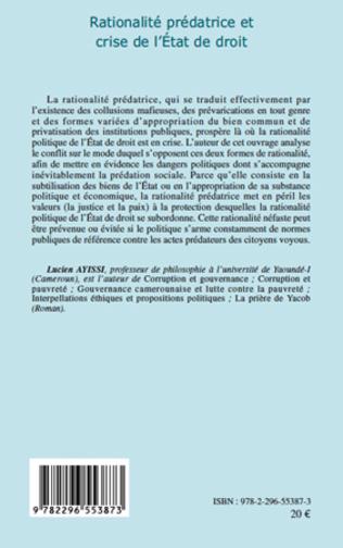 4eme Rationalité prédatrice et crise de l'Etat de droit