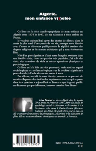 Algerie Mon Enfance V I Olee Lina Batami Livre Ebook Epub