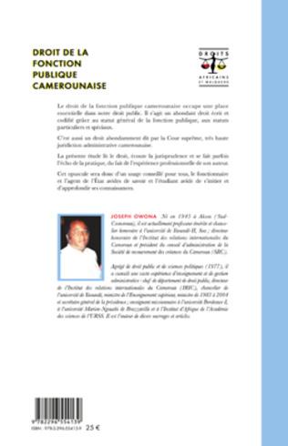 4eme Droit de la fonction publique camerounaise
