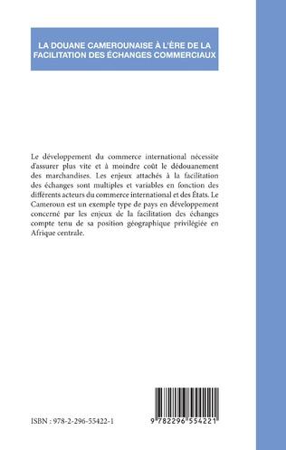 4eme La douane camerounaise à l'ère de la facilitation des échanges commerciaux
