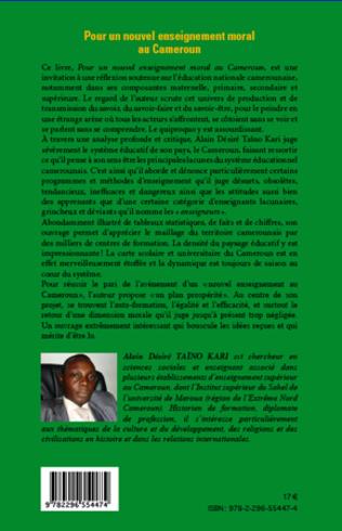 4eme Pour un nouvel enseignement moral au Cameroun