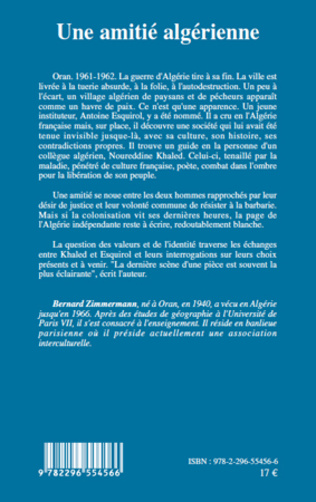 4eme UNE AMITIE ALGERIENNE   ROMAN
