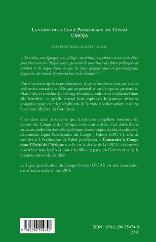 4eme La vision de la ligue panafricaine du Congo - UMOJA