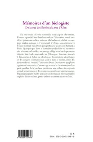 4eme Mémoires d'un biologiste