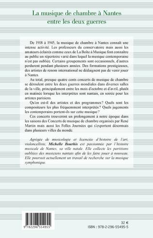 4eme La musique de chambre à Nantes entre les deux guerres