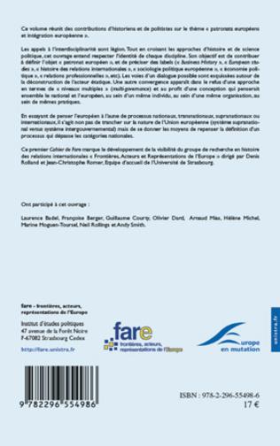 4eme Premières approches historiques sur l'intégration économique européenne : une réflexion sectorielle
