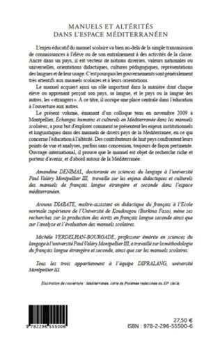 4eme Manuels et altérités dans l'espace méditerranéen. Enjeux institutionnels et linguistiques