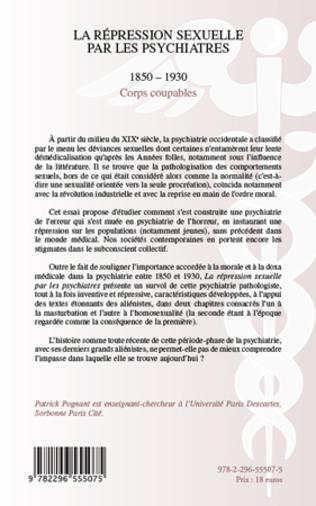 4eme La répression sexuelle par les psychiatres (1850-1930)