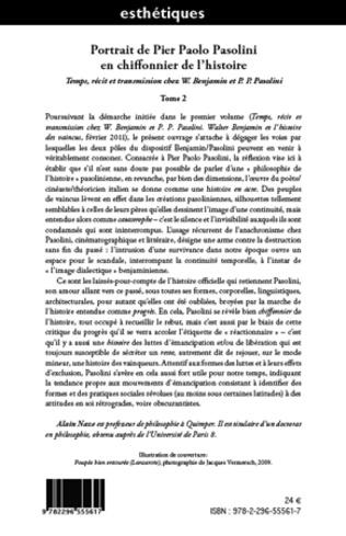 4eme Portrait de Pier Paolo Pasolini en chiffonnier de l'histoire