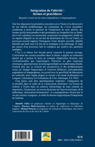 4eme Intégration de l'altérité : formes et procédures