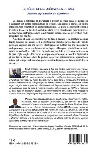 4eme Le Bénin et les opérations de paix