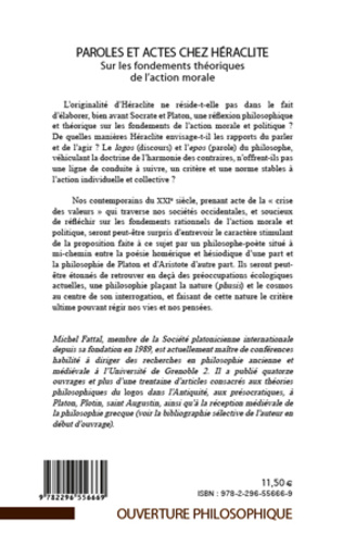 4eme Paroles et actes chez Héraclite