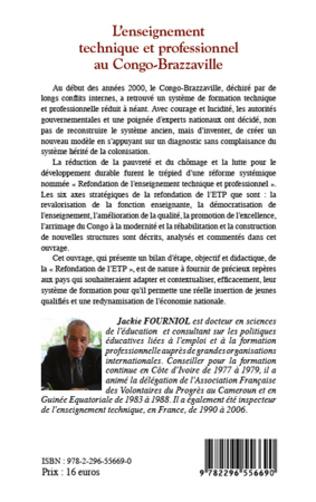4eme L'enseignement technique et professionnel au Congo-Brazzaville