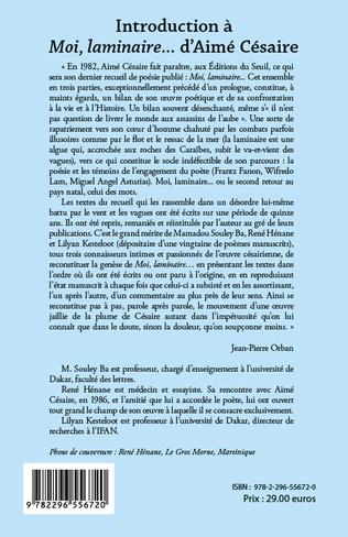 4eme Introduction à <em>Moi laminaire</em>... d'Aimé Césaire
