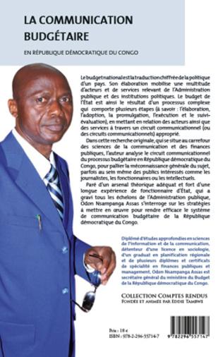 4eme La communication budgétaire en République démocratique du Congo