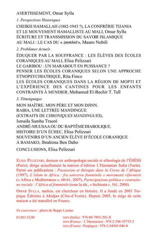 4eme Transmission du savoir islamique traditionnel au Mali
