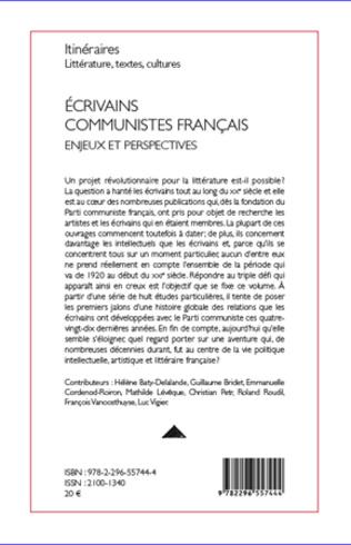 4eme Ecrivains communistes français