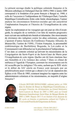 4eme Oubangui Chari et son évangélisation dans le contexte de la politique coloniale française en Afrique centrale