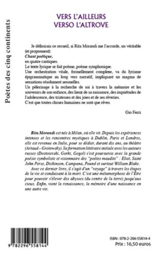 4eme VERS L'AILLEURS VERSO L'ALTROVE