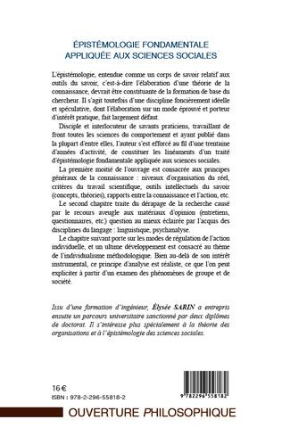 4eme Epistémologie fondamentale appliquée aux sciences sociales