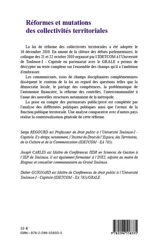 4eme Réformes et mutations des collectivités territoriales
