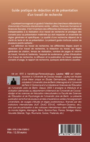 4eme Guide pratique de rédaction et de présentation d'un travail de recherche
