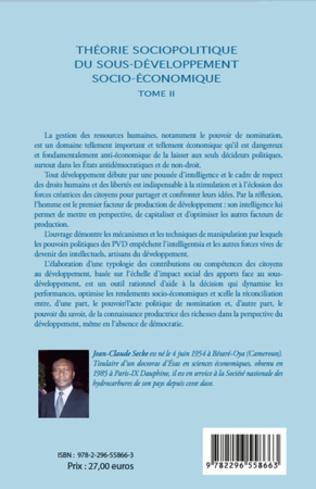4eme Théorie sociopolitique du sous-développement socio-économique (Tome 2)
