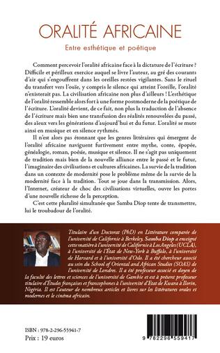 4eme Oralité africaine