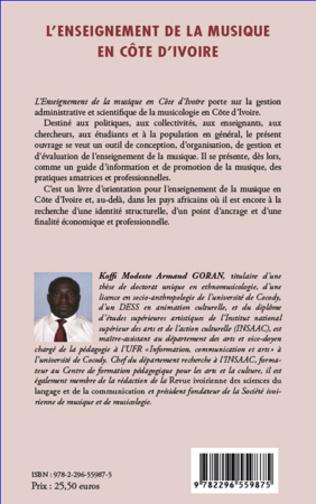 4eme L'enseignement de la musique en Côte d'Ivoire