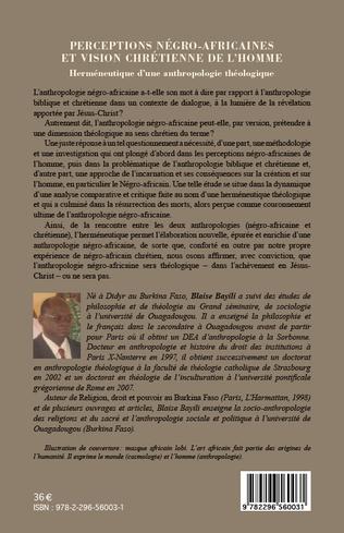 4eme Perceptions négro-africaines et vision chrétienne de l'homme