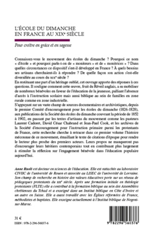 4eme L'école du dimanche en France au XIXe siècle