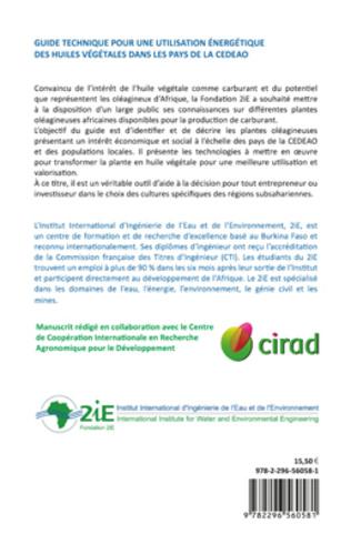 4eme Guide technique pour une utilisation énergétique des huiles végétales dans les pays de la CEDEAO