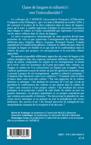 4eme Classe de langues et culture(s) : vers l'interculturalité