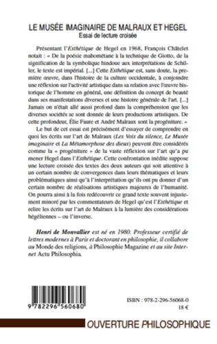 4eme Le musée imaginaire de Malraux et Hegel