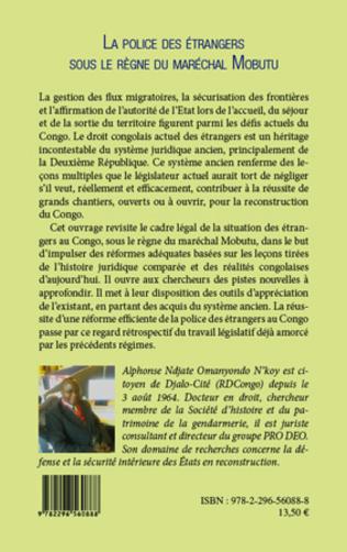 4eme La Police des étrangers sous le règne du Maréchal Mobutu
