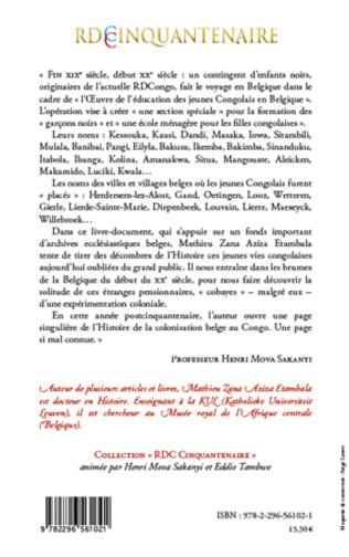 4eme Des écoliers congolais en Belgique 1888-1900