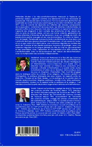 4eme Le Néo-constitutionnalisme marocain à l'épreuve du printemps arabe