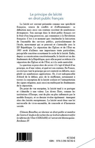 4eme Le principe de laïcité en droit public français