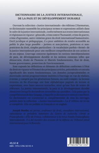 4eme Dictionnaire de la justice internationale, de la paix et du développement durable