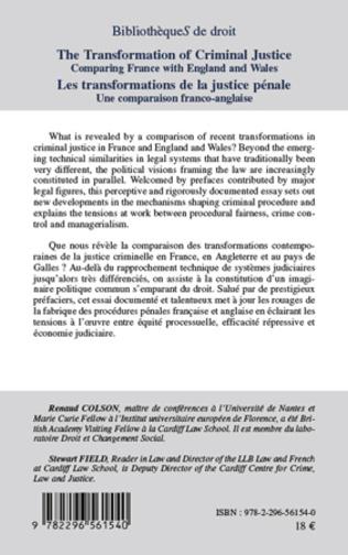 4eme Les transformations de la justice pénale. Une comparaison franco-anglaise