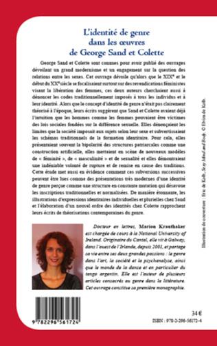 4eme Identité de genre dans les oeuvres de Georges Sand et Colette