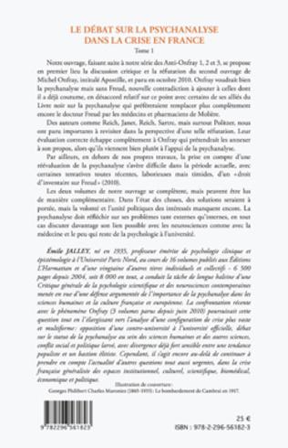 4eme Le débat sur la psychanalyse dans la crise en France (Tome 1)