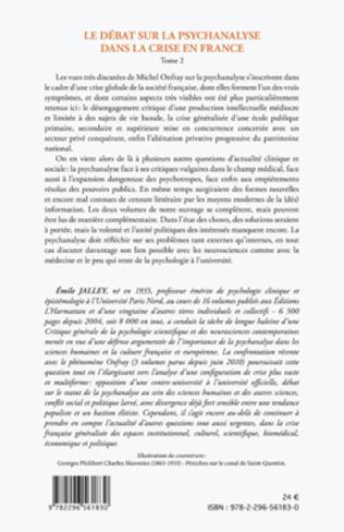 4eme Le débat sur la psychanalyse dans la crise en France (Tome 2)