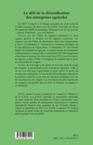 4eme Le défi de la diversification des entreprises agricoles